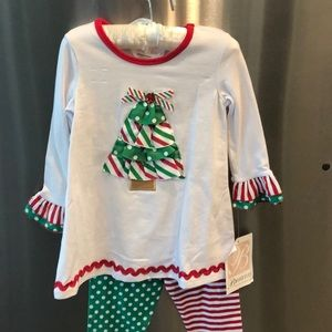 NWT Bonnie Baby Christmas Outfit
